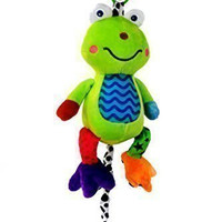 Musical Baby Toy (Large) by Zoomy Baby- Soft, Plush Frog - Huggable Stuffed Animal - Multi-Colored & Hypoallergenic - Infant Toy Attaches to Baby Crib, Child Car Seat & Baby Stroller