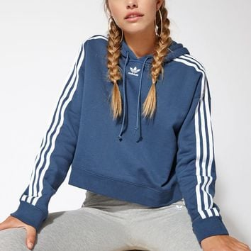 adidas Blue Cropped Hoodie at PacSun.com