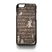 Winnie The Pooh Quotes 3 iPhone 4 4S 5 5S 5C 6 6 Plus , iPod 4 5  , Samsung Galaxy S3 S4 S5 Note 3 Note 4 , and HTC One X M7 M8 Case