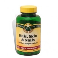 Hair, Skin and Nails Collagen Support Vitamins 120 count