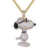 Snoopy Dog Wearing Shades Hip Hop Icy Mens Pendant