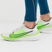 NIKE ZOOM GRAVITY Fashionable Women Men Breathable Sport Sneakers Shoes White&Green