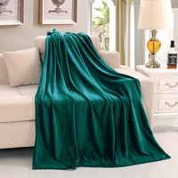220*240 Queen King Size Super Soft Warm Winter Blanket Throws on Bed/Sofa Pure Color High Quality Flano Flannel Free Shipping