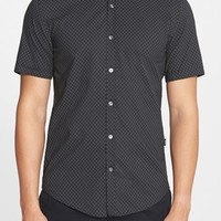 Men's BOSS 'Ronn' Slim Fit Microdot Short Sleeve Sport Shirt,
