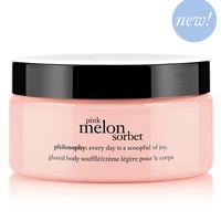 pink melon sorbet | whipped body souffle | philosophy body moisturizers