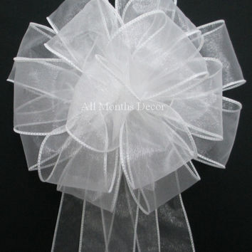 Organza Wedding Pew Bow Many Colors Available