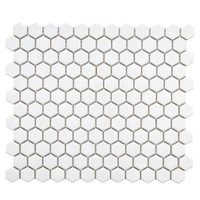 Merola Tile Metro Hex Glossy White 10-1/4 in. x 11-3/4 in. x 5 mm Porcelain Mosaic Tile (8.54 sq. ft. / case)-FXLMHW - The Home Depot