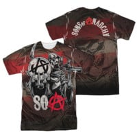 SONS OF ANARCHY REAPER BALL Short Sleeve 2 Sided T-Shirt 100% Polyester
