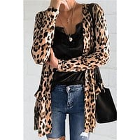 Fashion Leopard Print Cardigan