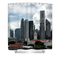Singapore Downtown Shower Curtain