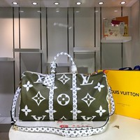 DCCK Lv Louis Vuitton Gb29624 M44590 Keepall Bandouliere 50 Soft Travel Bag
