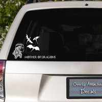 Game of Thrones Inspired Mother of Dragons Car Window Decal