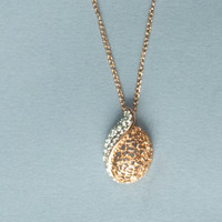 Womens  Yellow Gold Filled  Teardrop Necklace