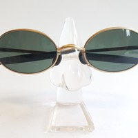Ray Ban Vintage B&L Orbs 6 Base Oval Matte Gold W2388 Aviator Sunglass USA NEW