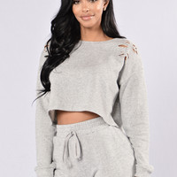 Savage Mode Top - Heather Grey