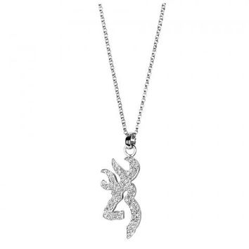 Browning Buckmark Ice Bling Necklace