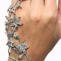 Floral Diamond Bracelet With Ring