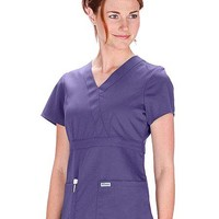 Buy Grey's Anatomy Junior Fit Mock Wrap Nurse Scrub Top for $26.50