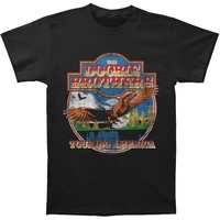 Doobie Brothers Men's  Touring America Slim Fit T-shirt Black