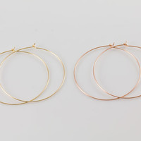 Plain Gold Hoop Earrings, Available in Gold Filled, Rose Gold Filled, Simple, Everyday Wear, Minimal Earrings, Lightweight Gold Hoop, GFER47