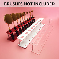 1 Oval MakeUp Brush Holder Organizer Acrylic Brush Holder Display Stand Make-Up Brush Holder #84722