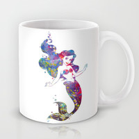 Little Mermaid Watercolor Mug by Bitter Moon