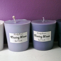 Moon Phase Candles for Full Moon, Dark Moon, Waxing, Waning, Wicca, Ritual