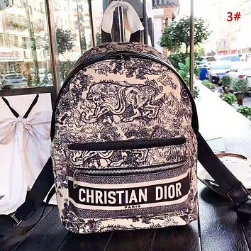 DIOR New fashion letter multicolor print backpack bag women 3#