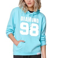 Diamond Supply Co Diamond Blue 98 Pullover Hoodie - Womens Hoodie - Green