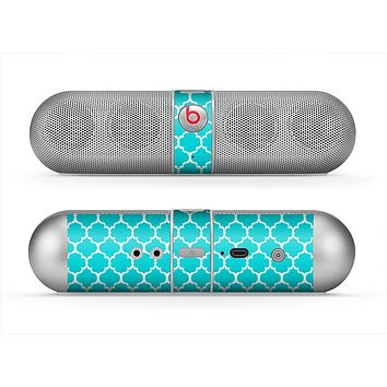 The Teal And White Seamless Morocan Pattern Skin for the Beats by Dre Pill Bluetooth Speaker