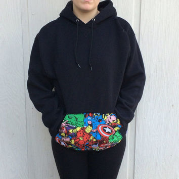Marvel Comics SweatShirt, Super Hero, Clothing, Pullover Hoodie