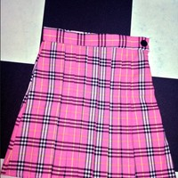 SWEET LORD O'MIGHTY! CHECKERED TENNIS SKIRT IN GREEN