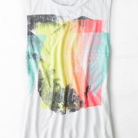 AEO Women's Watercolor Graphic Muscle Tank (White)