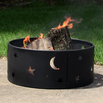 """Cosmic Stars and Moon Fire Ring 23"""""""