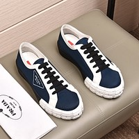 prada men fashion boots fashionable casual leather breathable sneakers running shoes 66