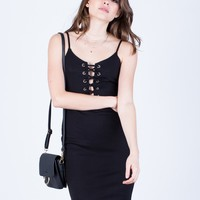 Front Lace-Up Party Dress