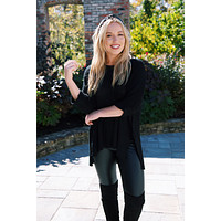 Nadia Lightweight Sweater, Black | Extended Sizes Available