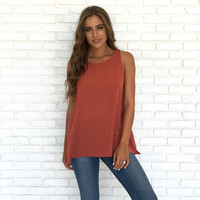 Takes Time Blouse In Rust