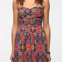 Band Of Gypsies Printed Strapless Dress