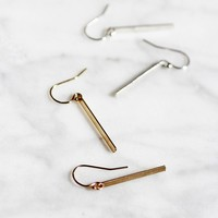 Flat Modern Bar Earrings - Christine Elizabeth Jewelry