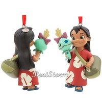 Licensed cool 2017 Lilo & Stitch Scrump Doll Sketchbook Christmas Ornament Disney Store NEW