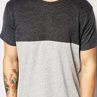Pull&Bear T-Shirt with Cut & Sew