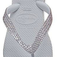 Havaianas flip flops with over 500 hand placed Swarovski crystals
