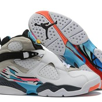 Air Jordan 8 Retro White/Gray/Blue Size 40-47