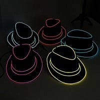 LED Glowing Fedoras Hats
