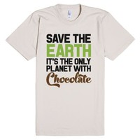 Chocolate Planet-Unisex Natural T-Shirt