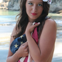 LIBERTY - Flower Crown, Patriotic Crown, Red White and Blue, Fourth of July Accessories, Americana Headpiece