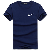 NIKE 2018 new summer wild tide brand loose round neck short-sleeved T-shirt F-A000-PPNZ Navy blue