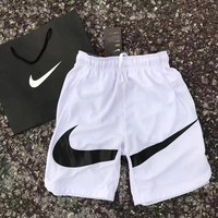 Nike: summer dry couple shorts Sports Shorts Big Hook White&Black