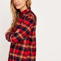 BDG Olly Red Flannel Shirt - Urban Outfitters